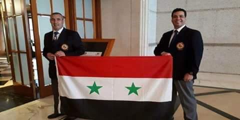 Photo of Syrian karate referee Qazma gets new international referee badge