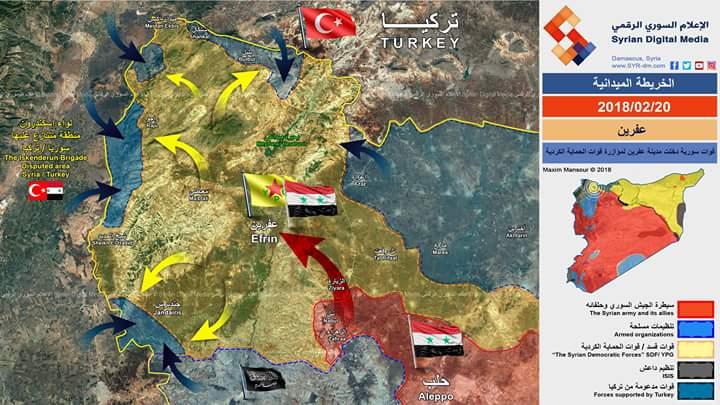 Photo of خريطة ميدانية- تصريحات تركية تنفيها الأفعال السورية