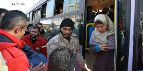 Photo of Five medical cases evacuated from Kafraya and al-Fouaa along with their families