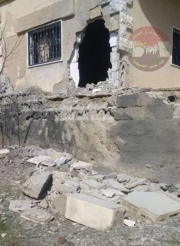 Photo of بالصور- أضرار مادية بقذائف إرهابية على جبا بريف القنيطرة