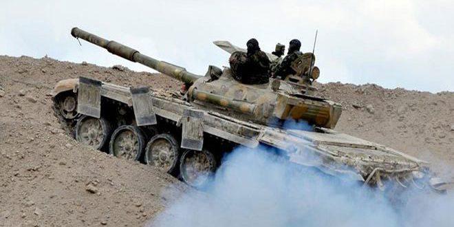 Photo of الجيش يدمر أوكاراً لإرهابيي النصرة بريف حماة