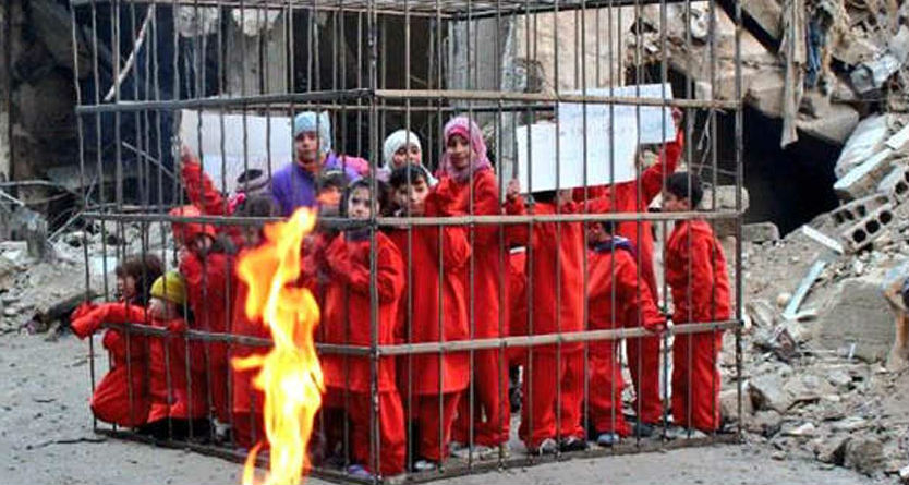 Photo of الكرملين: إرهابيو الغوطة يحتجزون المدنيين كرهائن