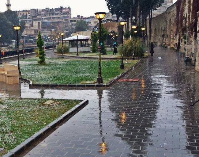 Photo of زخات من المطر تترافق مع منخفض جوي