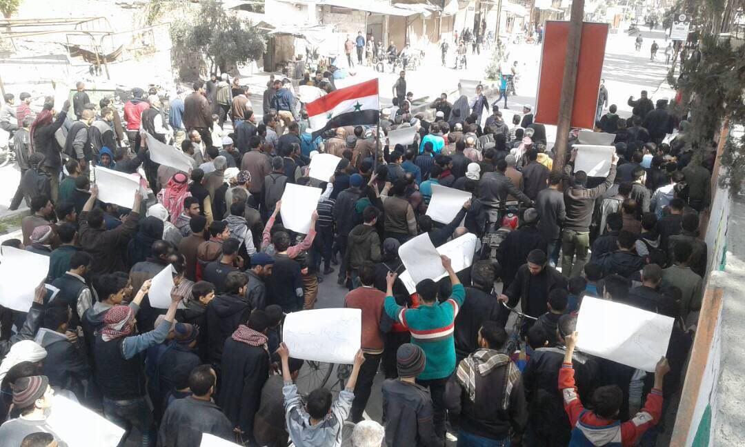 "Photo of انتفاضة ضد الإرهاب بـ ""سقبا وحمورية وكفربطنا"""