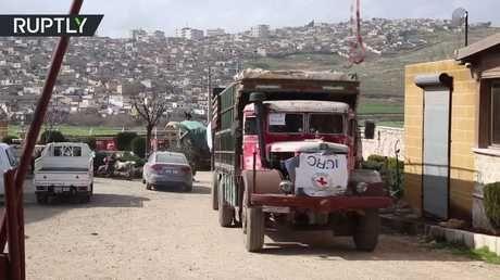 Photo of أول قافلة مساعدات إنسانية تصل عفرين