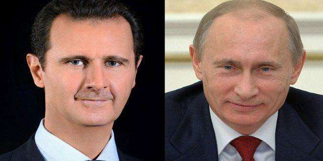 Photo of الأسد يهنئ بوتين بفوزه بالانتخابات