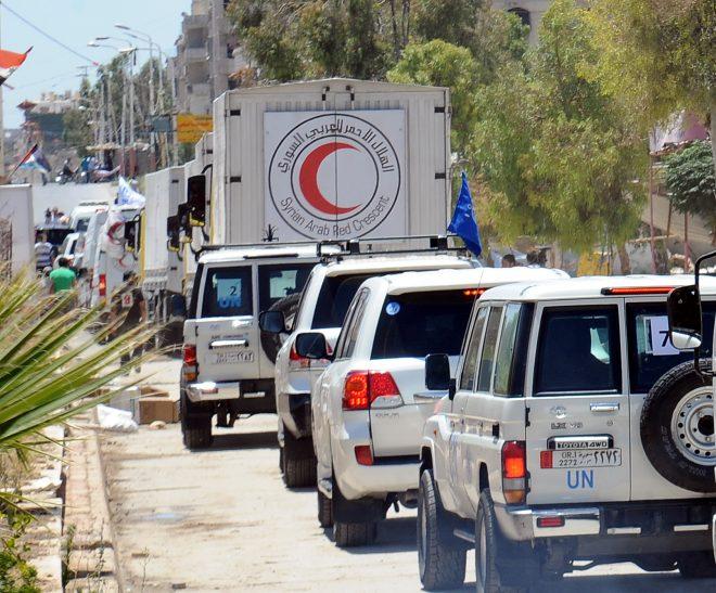 Photo of لإنعدام الأمن.. قافلة مساعدات الغوطة تعود أدراجها