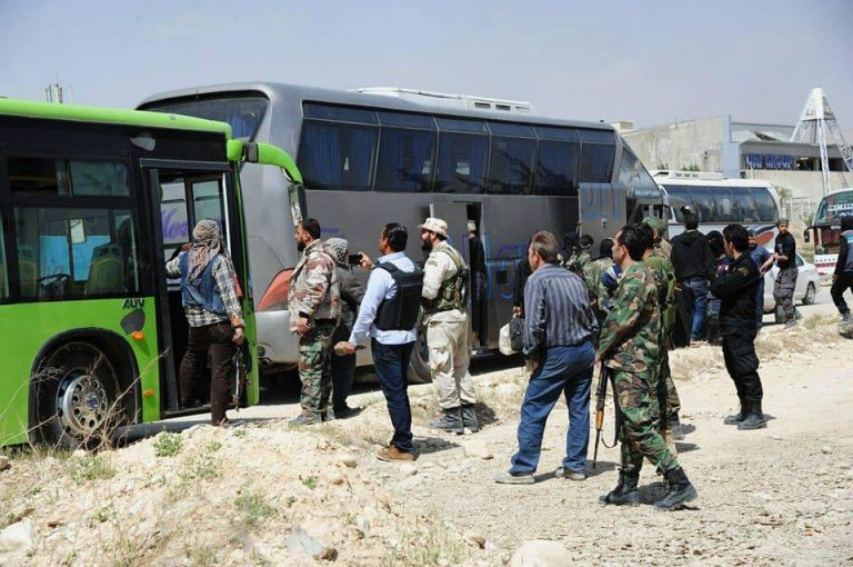 Photo of Syrian Army secures exit of 1092 civilians from Eastern Ghouta through al-Wafideen safe corridor