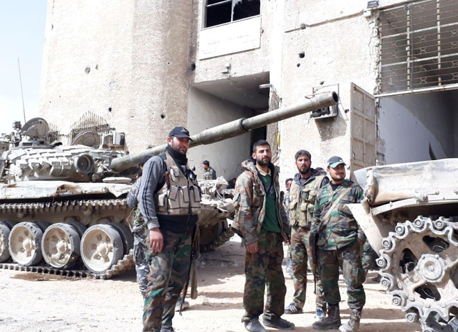 Photo of Syrian army recaptures Ein Tarma Valley in Eastern Ghouta area