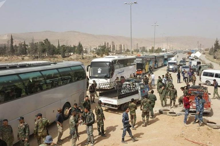 Photo of Syrian Army secured exit of more than 128,000 civilians from Eastern Ghouta via safe corridors