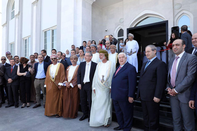 Photo of Al-Moallem inaugurates new Syrian Embassy HQ in Muscat