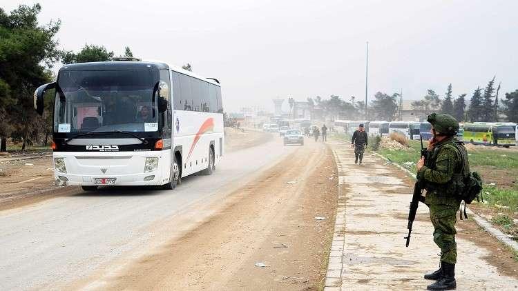 "Photo of ""إرهابيي دوما"" يوافقون على الخروج من الغوطة الشرقية"