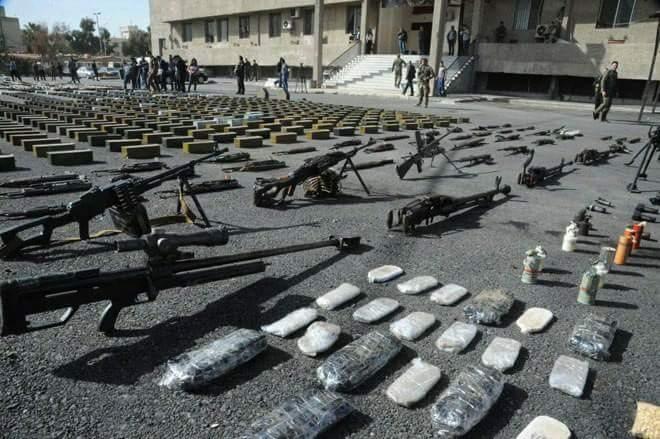 Photo of بناءً على معلومات استخبارتية.. ضبط شاحنة أسلحة متجهة لإرهابيي الغوطة