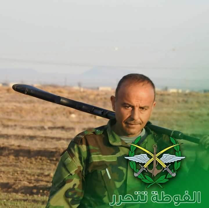 """Photo of القائد """"شادي علوش"""" شهيداً بالغوطة الشرقية"""
