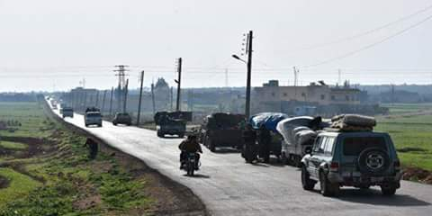 Photo of Turkish forces invade city of Afrin, displacing its locals