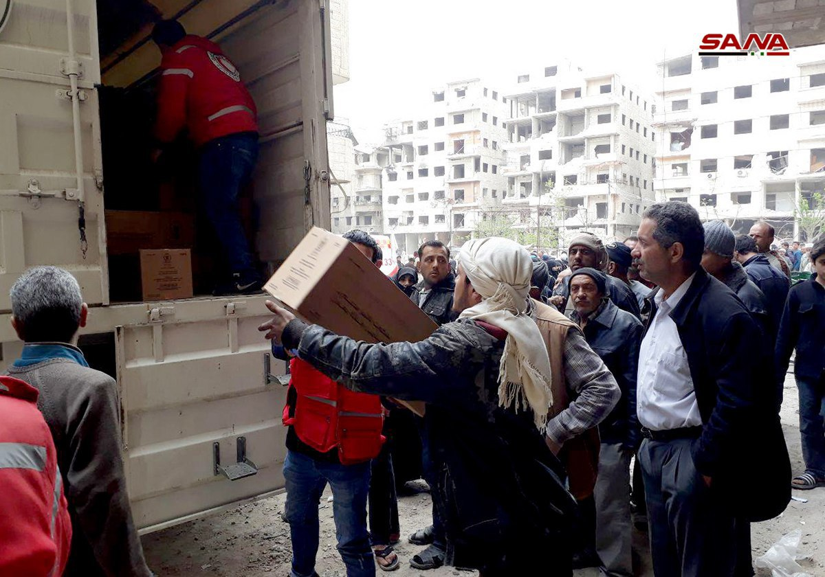 Photo of Food and medical aid arrives in Ein Tarma