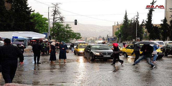 Photo of بالصور- أمطار غزيرة بدمشق
