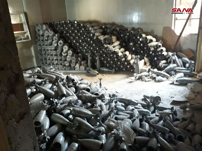 Photo of شبكة أنفاق ومعمل ضخم لتصنيع الهاون بدوما