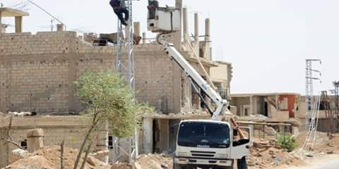 Photo of Maintenance workshops working to provide Eastern Ghouta towns with electricity