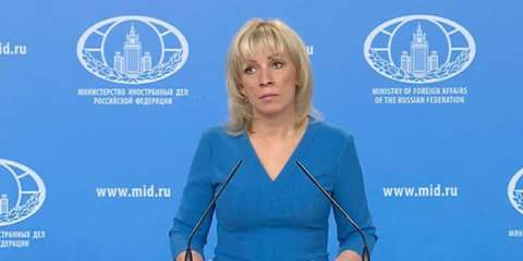 Photo of Zakharova: No casualties or effects of chemicals usage found in Douma, Syria