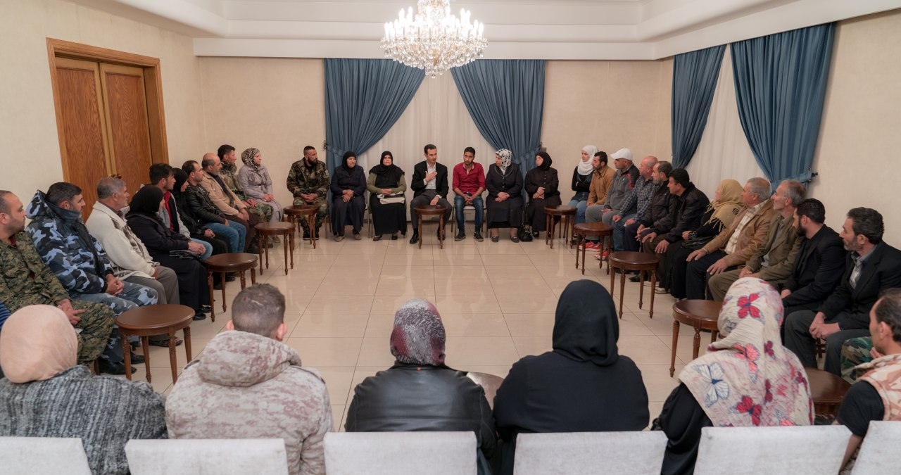 Photo of President al-Assad: Liberating the abductees is not only a humanitarian issue, but it is also a national one