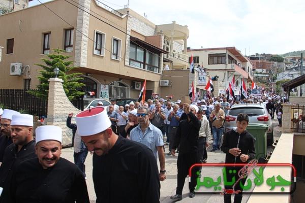 Photo of المركز الاخباري: الجولانيون يحيون عيد الجلاء في قرية عين قنيه