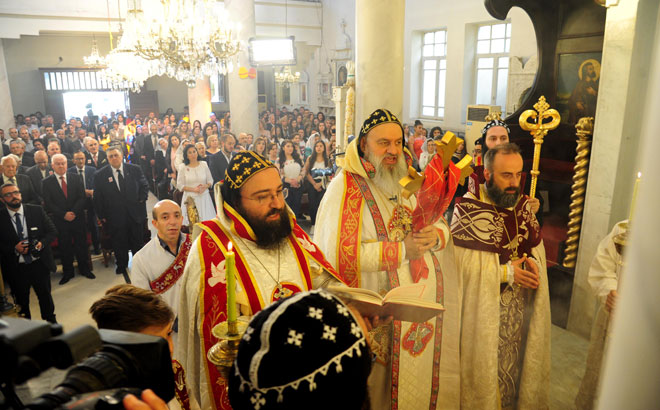 Photo of Delegated by President al-Assad, Speaker Sabbagh congratulates heads of Christian denominations on Easter