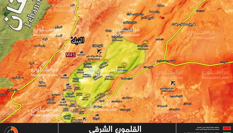 Photo of بدء عملية عسكرية في القلمون الشرقي ( خريطة )