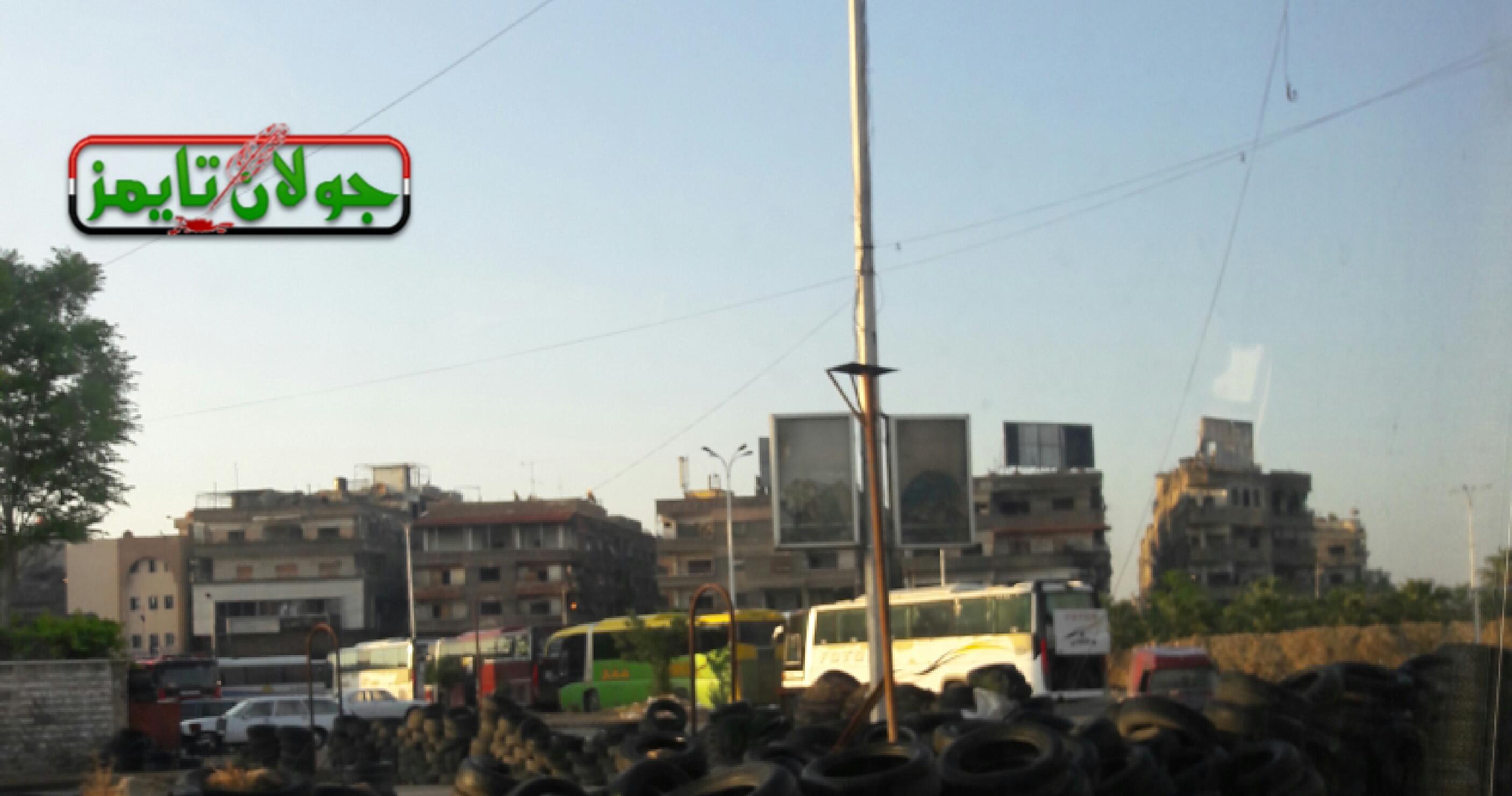 "Photo of بالصور- بدء تجمع حافلات خروج إرهابيي""مخيم اليرموك"""