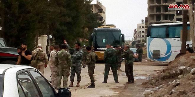 """Photo of خروج الدفعة الرابعة من إرهابيي""""ببيلا ويلدا وبيت سحم"""""""