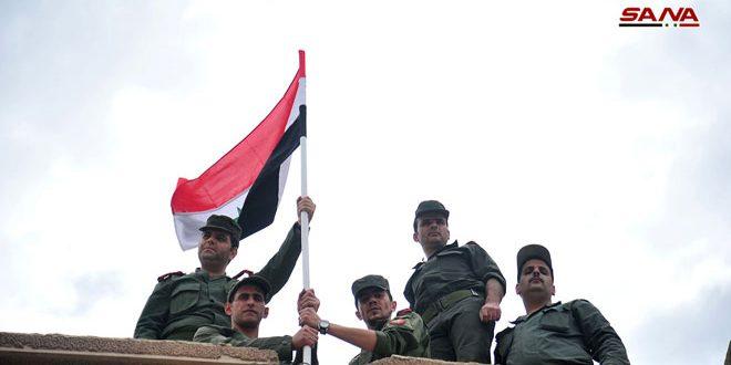 Photo of رفع العلم السوري بالحجر الاسود ومخيم اليرموك