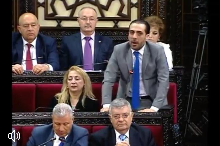 """Photo of عضو مجلس الشعب """" وائل ملحم"""" يطالب بوزارة لشهداء(فيديو)"""