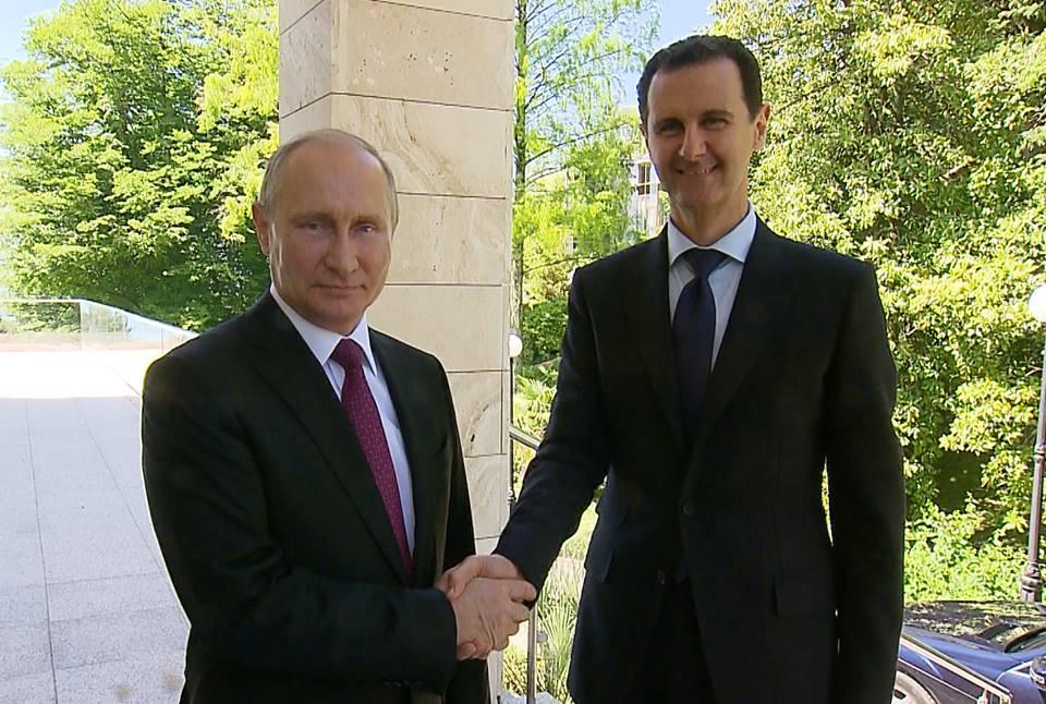"Photo of قمة رئاسية في سوتشي تجمع ""الأسد و بوتين"""