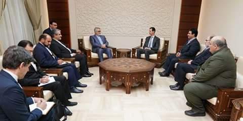 Photo of President Al-Assad receives Ala-eddin Boroujerdi