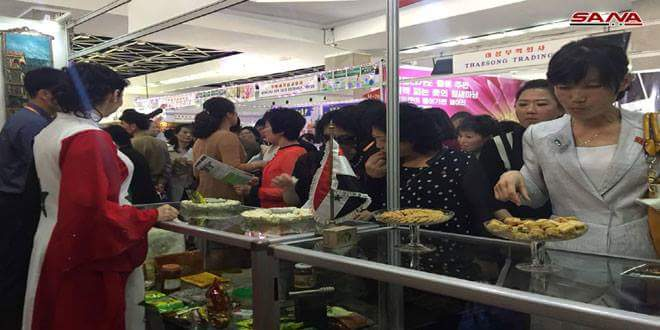 Photo of Remarkable turnout at Syrian Pavilion at Pyongyang Spring Int'l Trade Fair