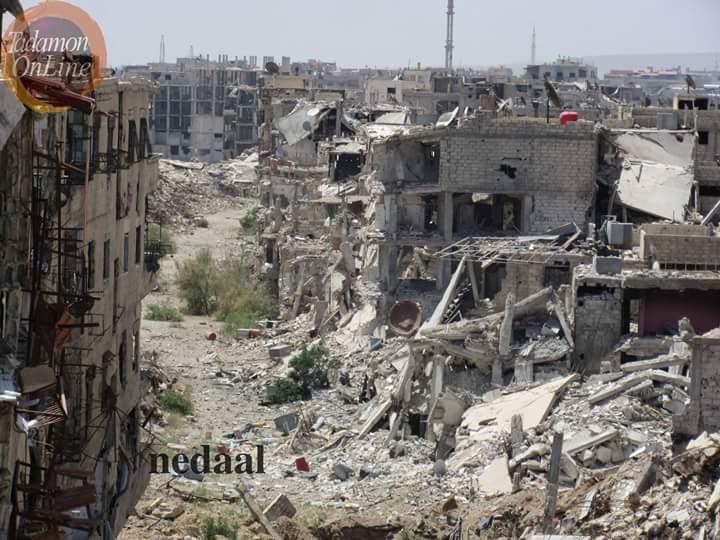 Photo of بالصور- حجم الدمار بمخيم فلسطين والتضامن