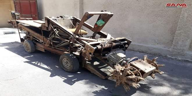 Photo of Tunnel-digging machine and equipment found in Babila,Yalda,Beit Sahem