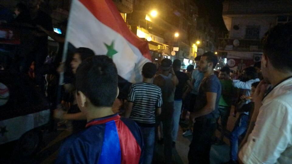 Photo of بالصور- احتفالات أهالي حي التضامن بالنصر