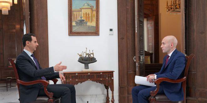 Photo of الأسد لروسيا اليوم: سنحرر كل جزء محتل من سوريا