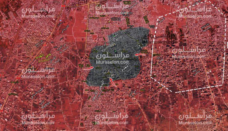 Photo of خريطة السيطرة جنوب دمشق بعد تحرير بلدات بيت سحم و ببيلا و يلدا