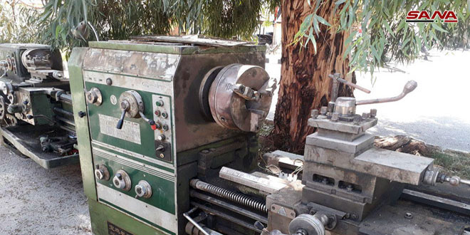 Photo of Tunnel excavator, ammunition discovered in southern Damascus