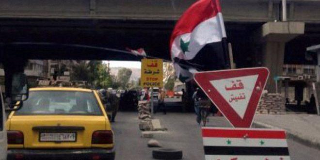 Photo of محافظة دمشق تزيل حاجزي الزبلطاني وباب الجابية