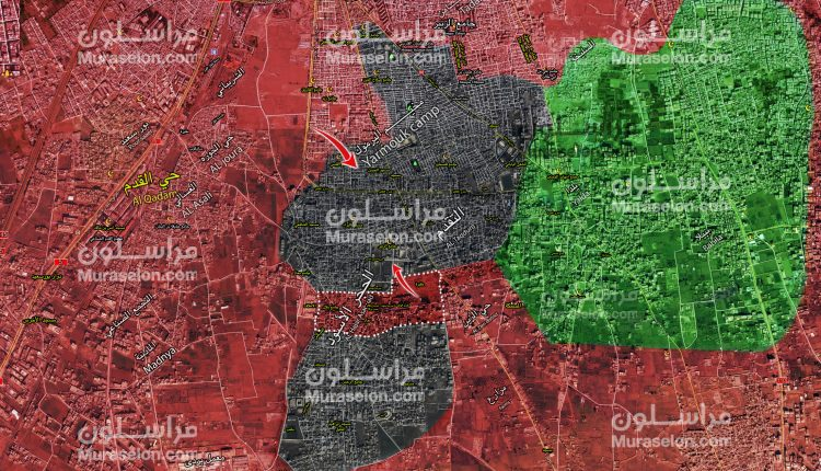 Photo of الجيش يفصل الحجر الأسود عن مخيم اليرموك جنوب دمشق