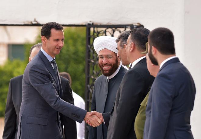 Photo of الأسد يتلقى عددا من برقيات التهنئة بمناسبة حلول عيد الفطر المبارك