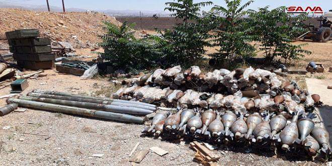 Photo of Arms and ammunition bound for terrorists in Idleb seized