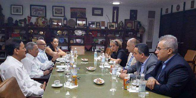 Photo of Cuban official reiterates support for Syria during meeting with Information Minister