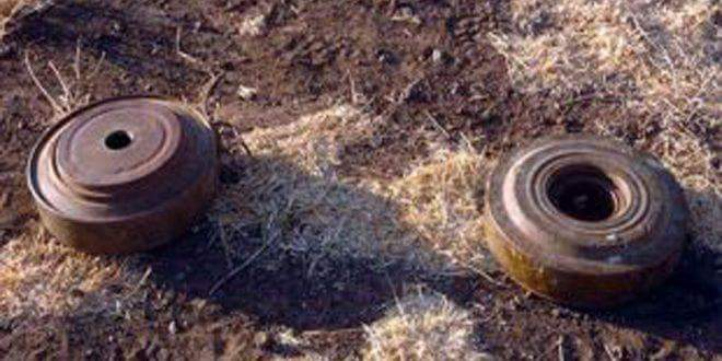 Photo of Citizen martyred in blast of landmine left by terrorist in Homs countryside