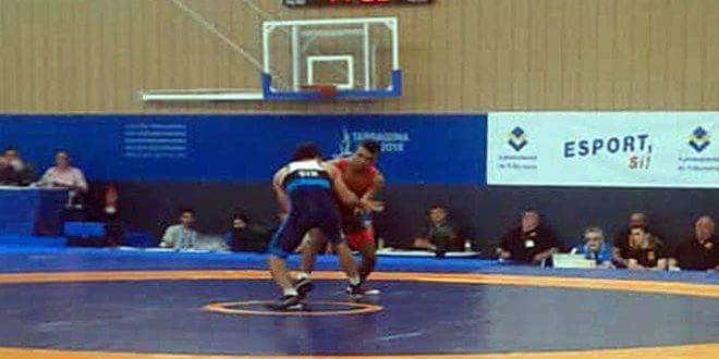 Photo of Al-Hassan qualifies for wrestling semifinals at 2018 Mediterranean Games, Spain