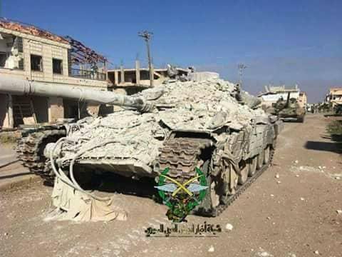 "Photo of بالصور- غنائم الجيش من إرهابيي ""بصر الحرير"""