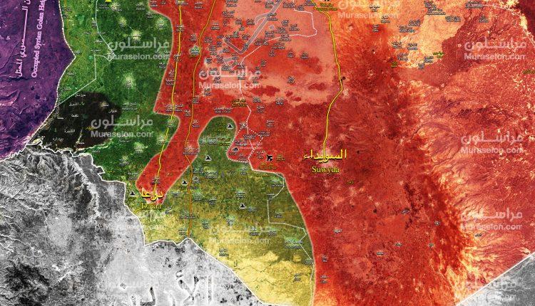 Photo of خريطة : الجيش يحرر اللواء 52 وعدة قرى في ريف درعا الشرقي